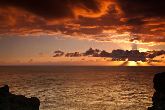 Sun Rise Lizard Point Poldhu Cove Mullion Cornwall Holiday Cottage Sea Views by John Wright on 29/12/2011