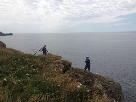 Cliff Rescue by Nicola Parkman on 07/08/2013